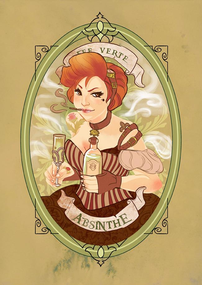 Absinthe Poster - Audrey Molinatti