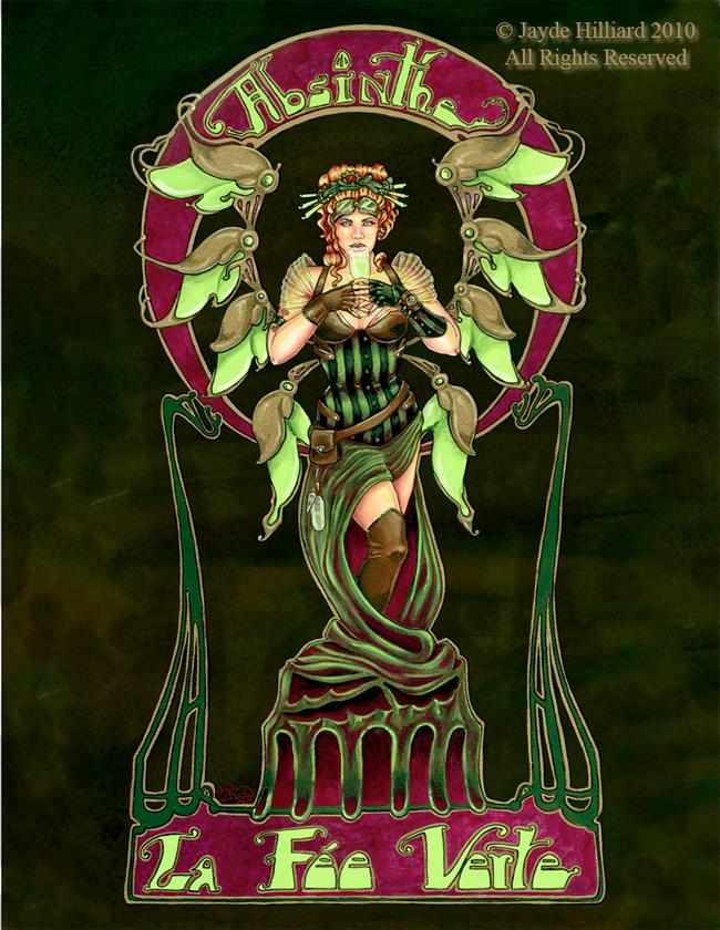 Absinthe Poster - Jayde Hilliard