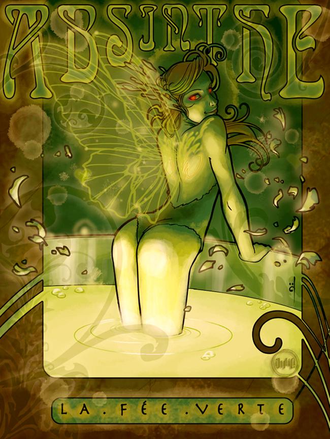 Absinthe Poster - Julio Cesar Leote Souza
