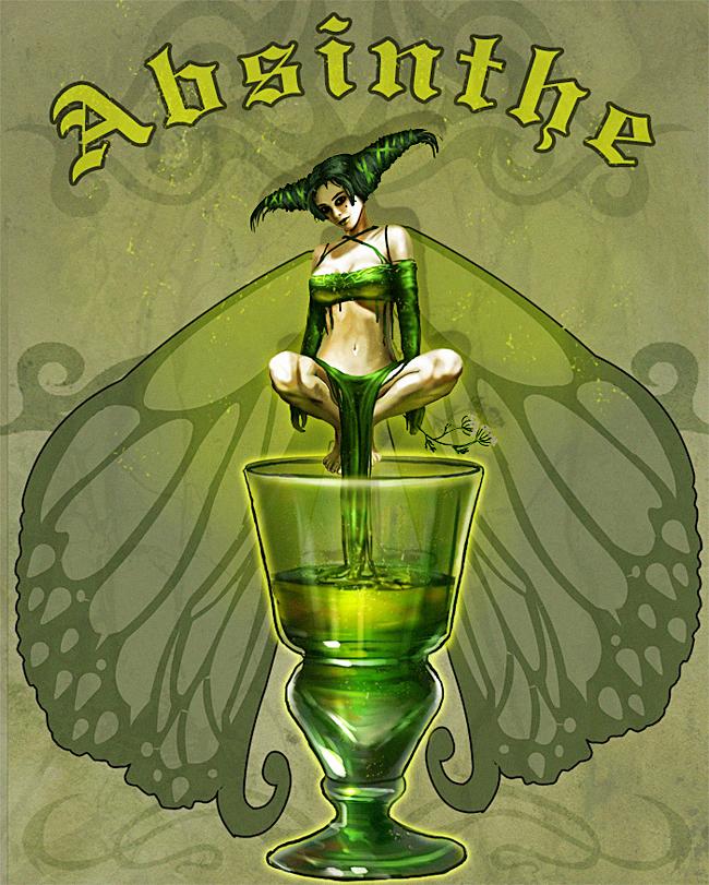 Absinthe Poster - Nadia Asserzon
