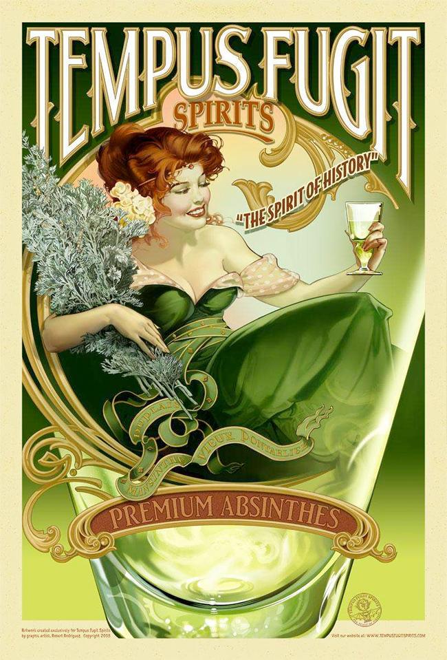 Absinthe Poster - Tempus Fugit Spirits