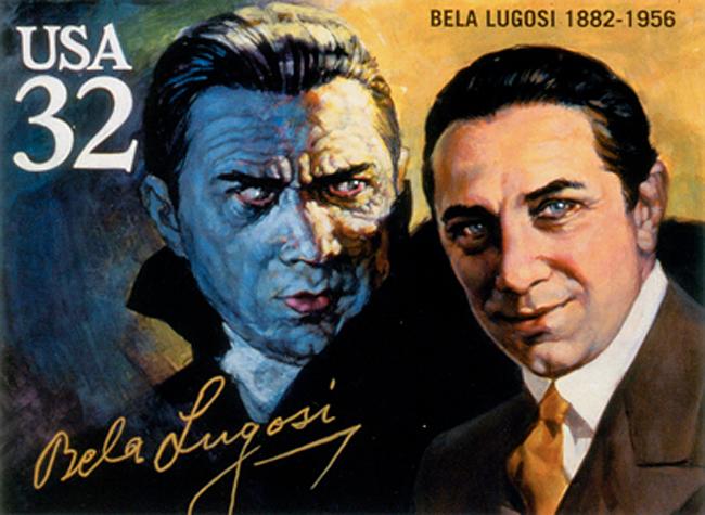 Basil Gogos - Bela Lugosi Stamp
