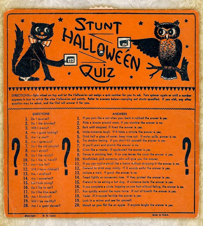 Beistle - Halloween Stunt Quiz