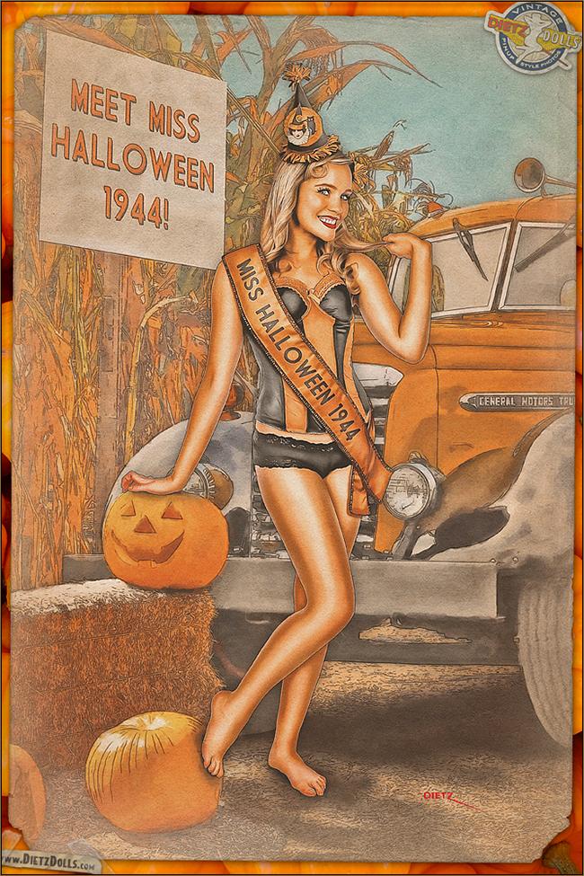 Britt Dietz - Miss Halloween 1944