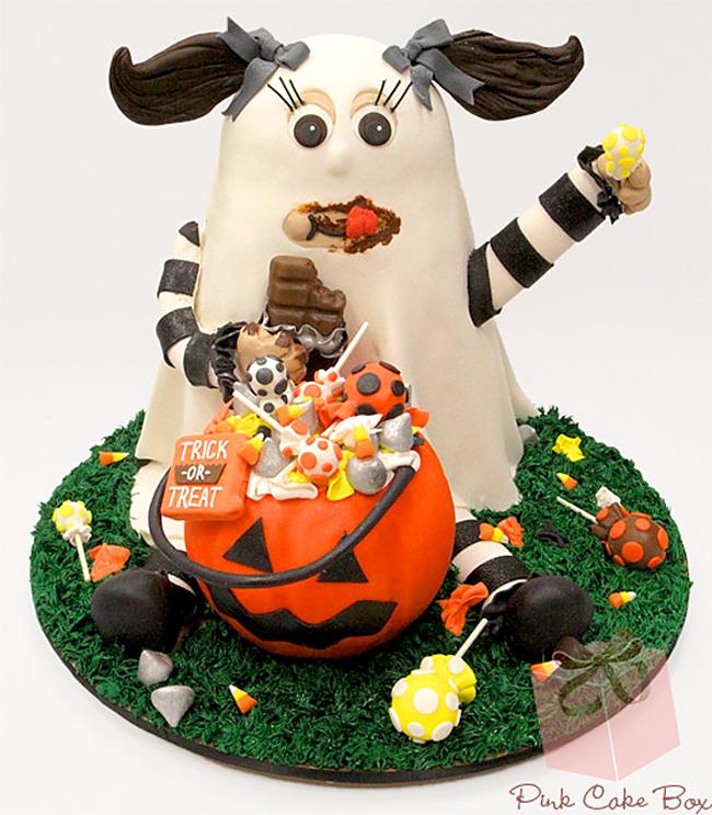 Halloween Cake - Pink Cake Box