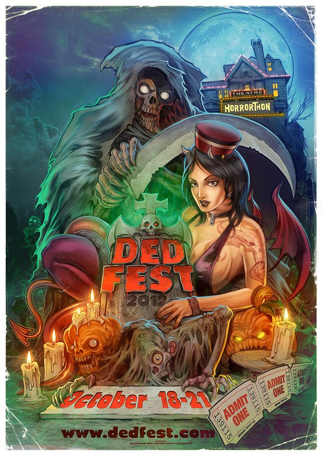 Corlen Kruger - DED FEST 2012 Poster