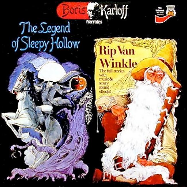 Halloween Album Cover - Boris Karloff Narrates the Legend of Sleepy Hollow