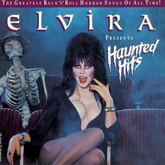 Halloween Album Cover - Elvira Presents Haunted Hits