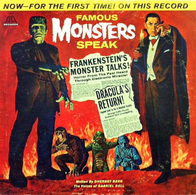 Halloween Album Cover - Famous Monsters Speak