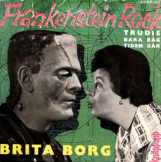 Halloween Album Cover - Frankenstein Rock