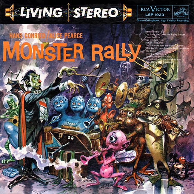 Halloween Album Cover - Monster Rally