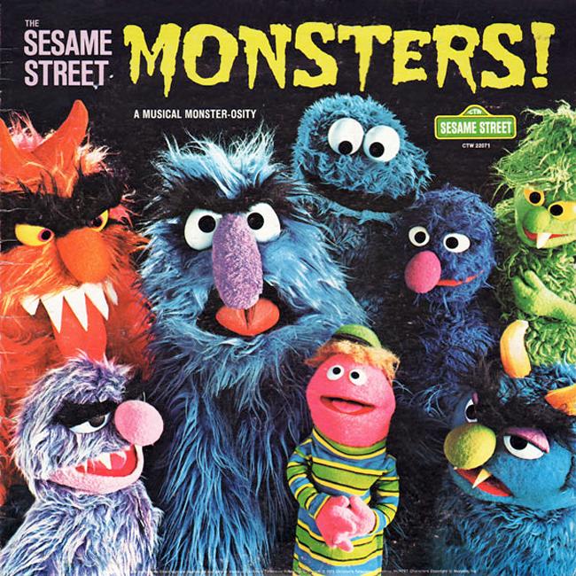 Halloween Album Cover - Sesame Street Monsters