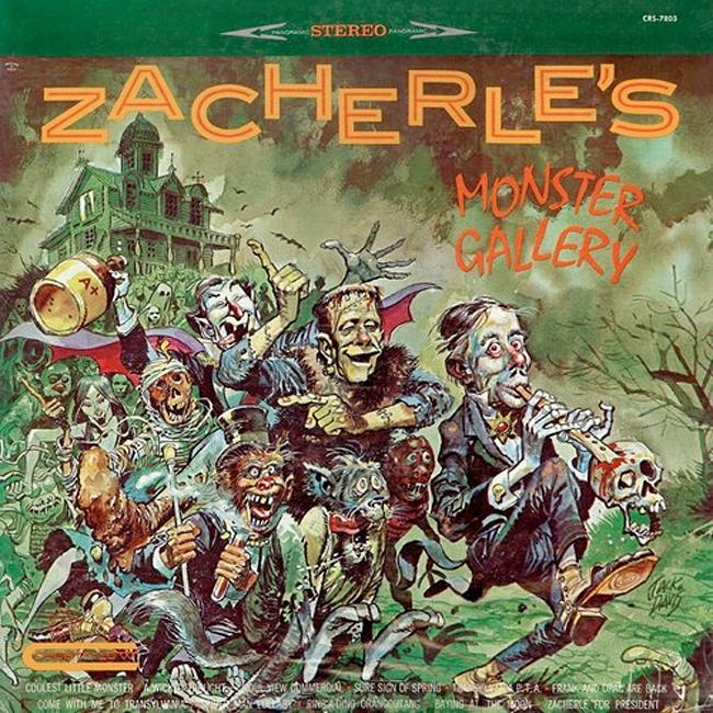 Halloween Album Cover - Zacherley's Monster Gallery