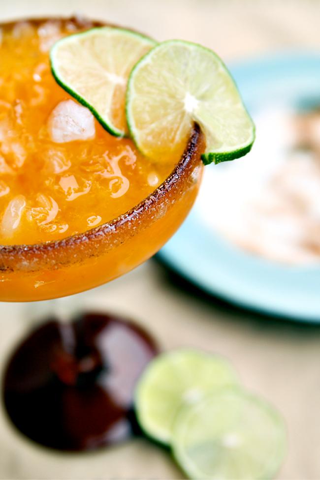 Halloween Cocktail - Persimmon Margarita