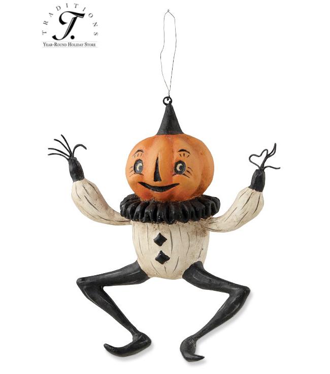 Dancing Pumpkin Ornament By Johanna Parker