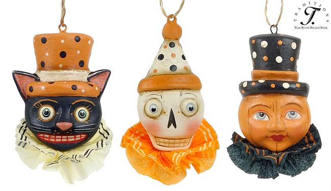 Halloween Trio Ornaments by Allen Cunningham