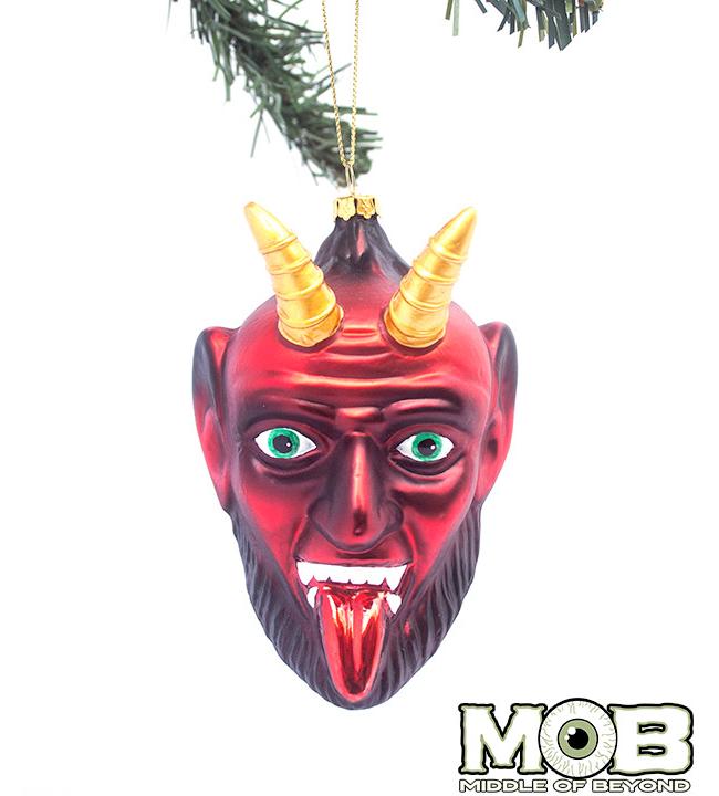 Krampus The Christmas Devil Glass Ornament
