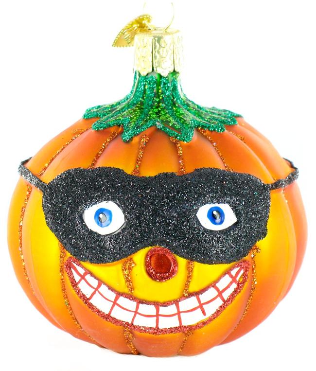Old World Christmas Masked Jack O'lantern Ornament