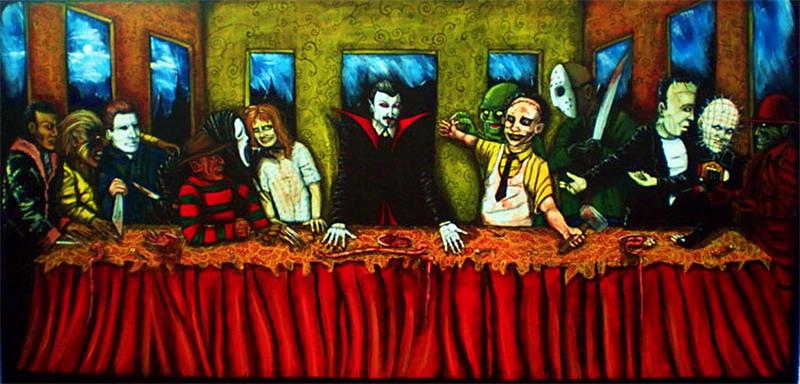 Horror Last Supper - Joseph Schmalke