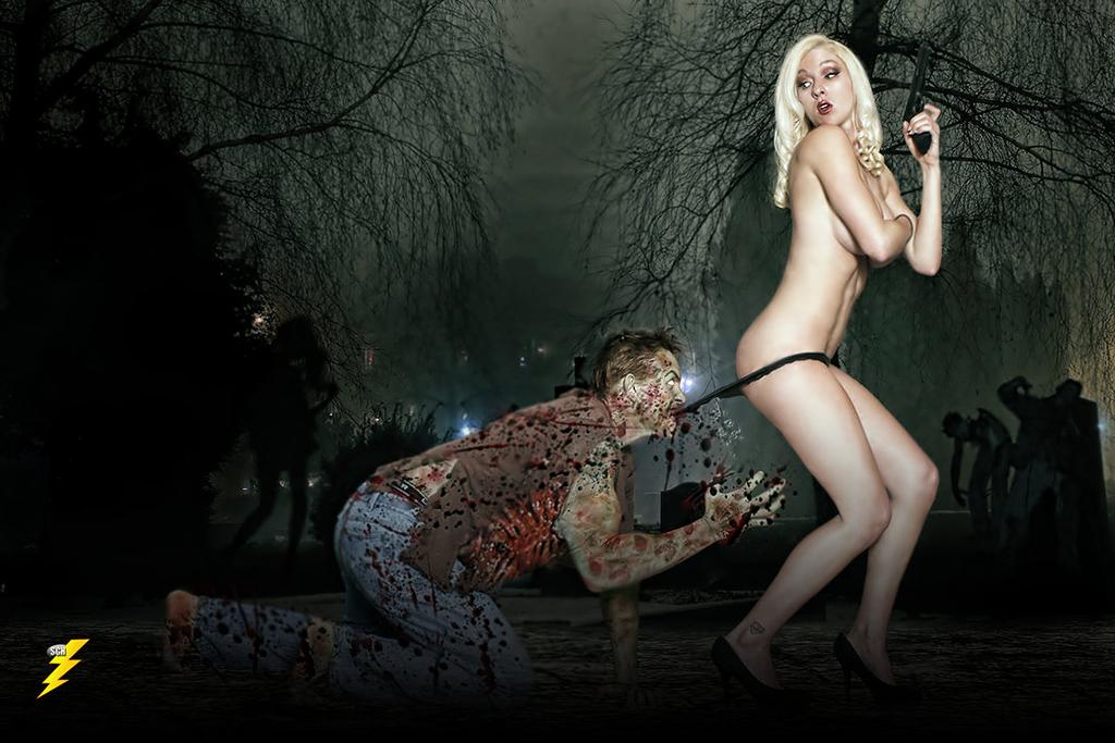 Meg Murrderher - Pinup Zombie - Coppertone Homage