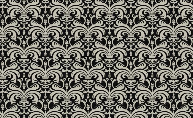 Halloween Pattern - Gothic Mono