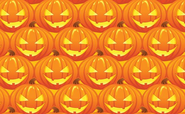 Halloween Pattern - Jack O' Lanterns