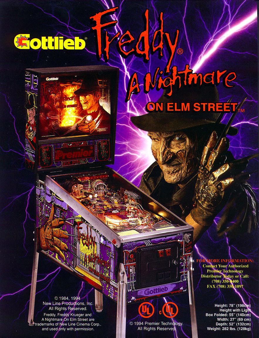Nightmare on Elm Street Pinball