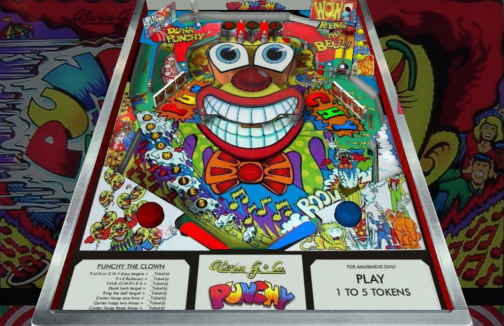Punchy the Clown Pinball