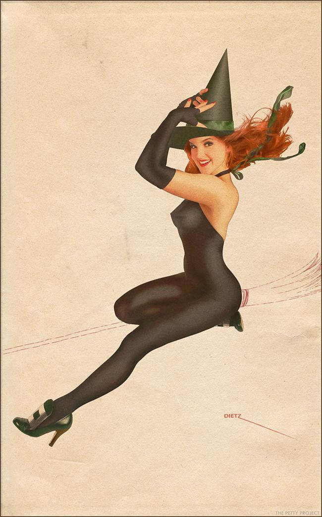 Halloween Pin-Up - Britt Dietz