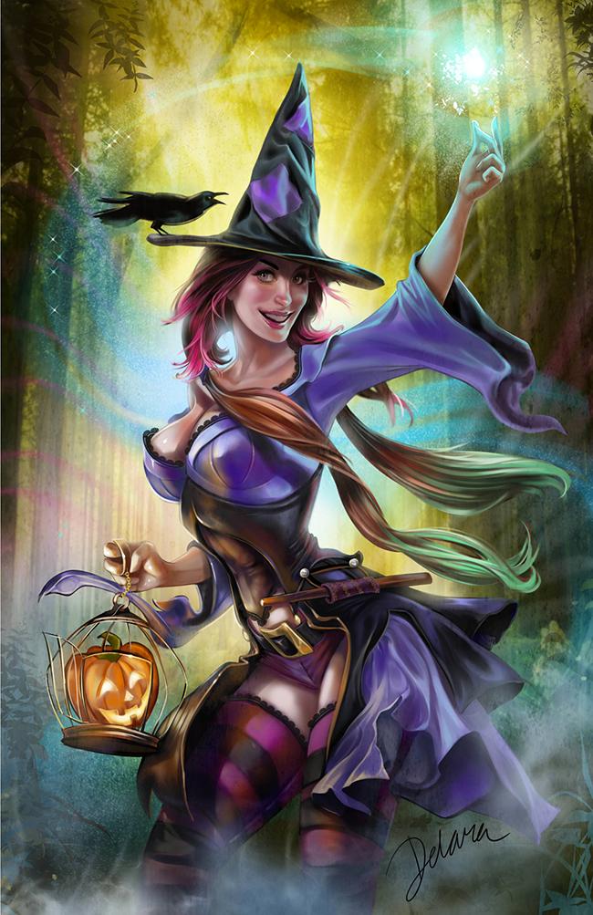 Halloween Pin-Up - Cris de Lara
