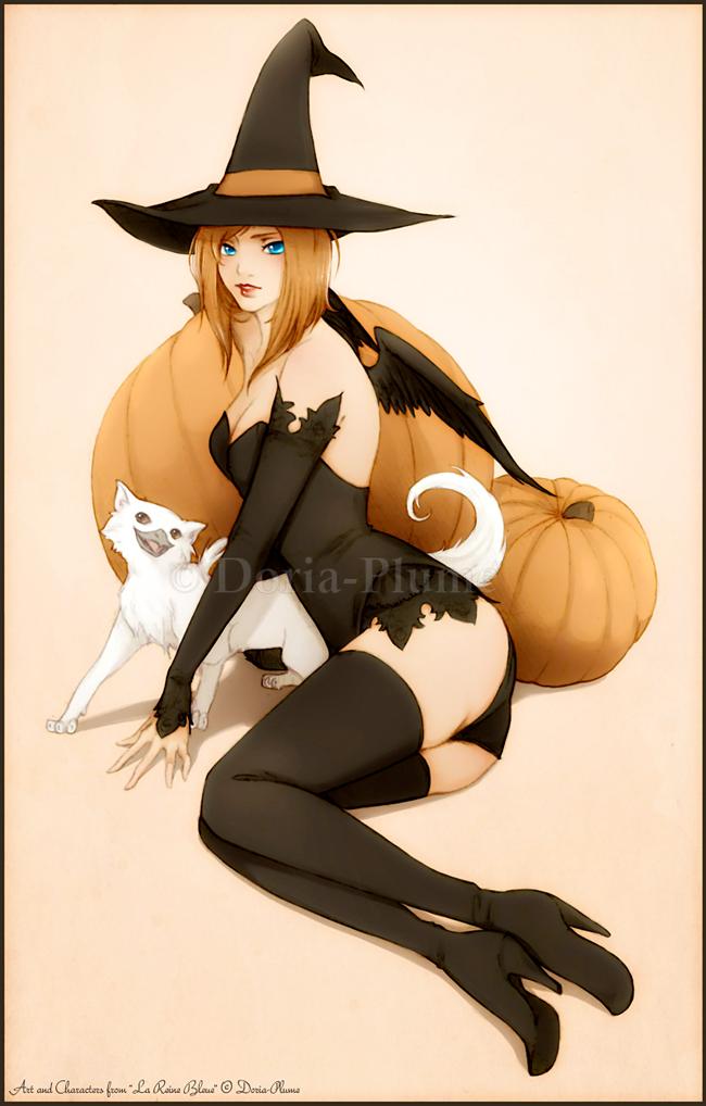 Halloween Pin-Up - Doria Plume