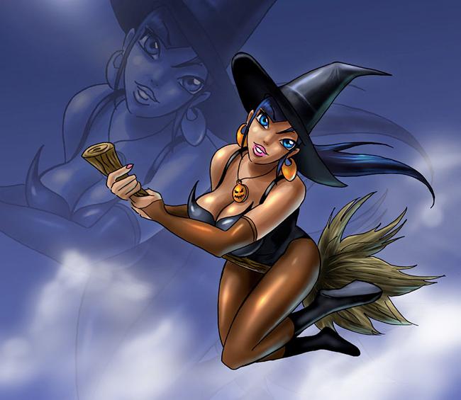 Halloween Pin-Up - Fabien Mater