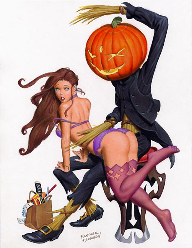 Halloween Pin-Up - Fastner & Larson