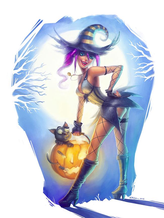 Halloween Pin-Up - Felipe Kimio