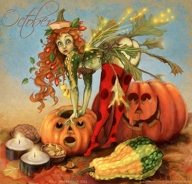Halloween Pin-Up - Kiri Oestergaard Leonard