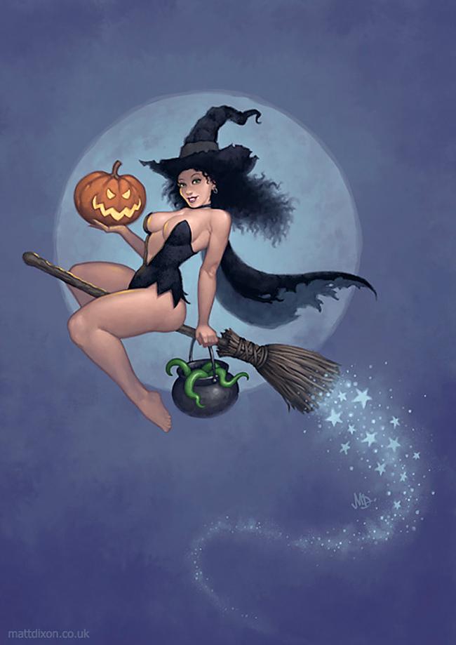 Halloween Pin-Up - Matt Dixon