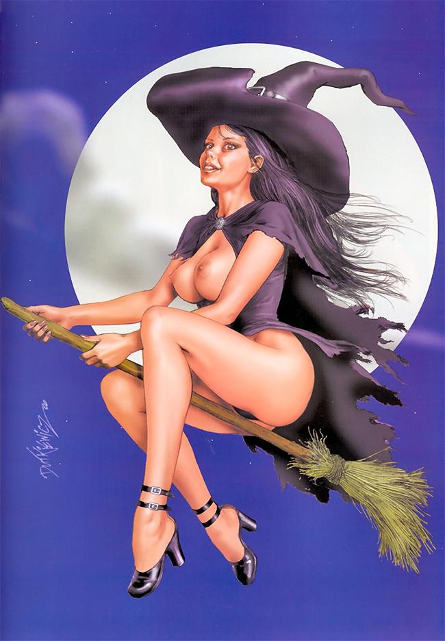 Halloween Pin-Up - Michal Dutkiewicz