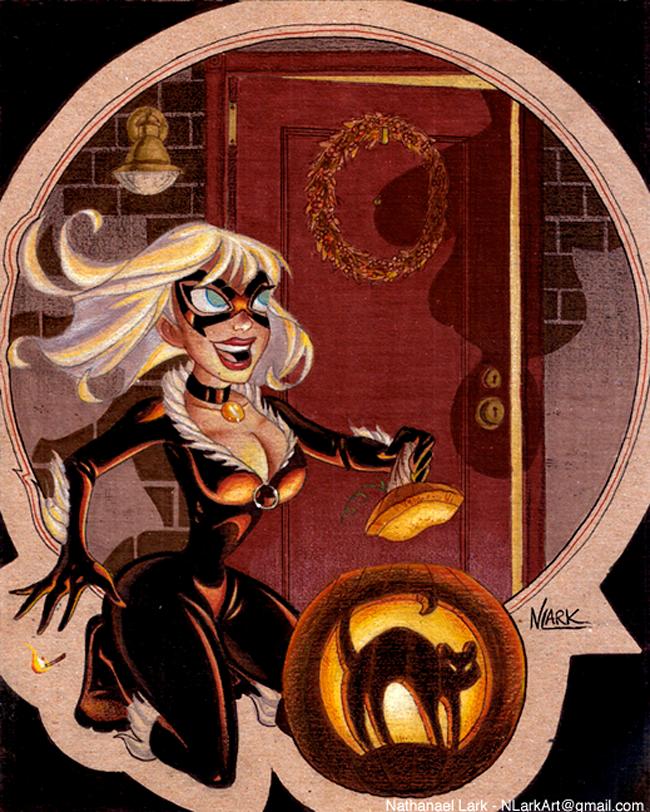 Halloween Pin-Up - Nathanael Lark