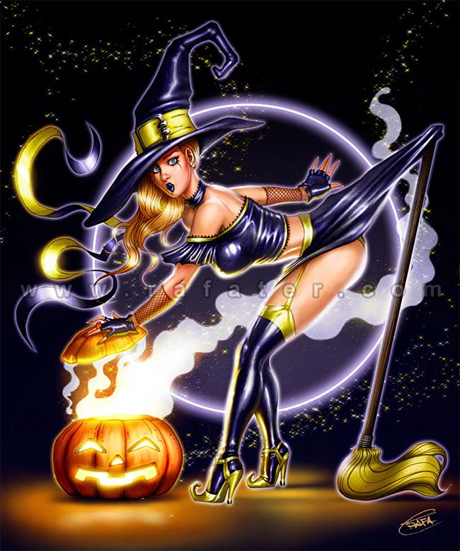 Halloween Pin-Up - Rafater
