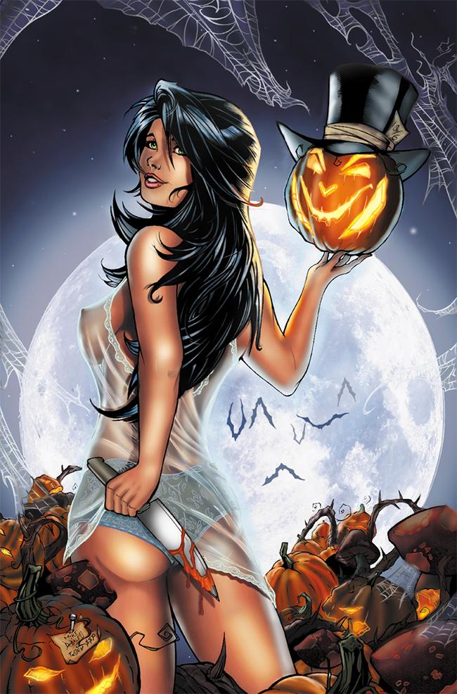 Halloween Pin-Up - Sarah Perryman