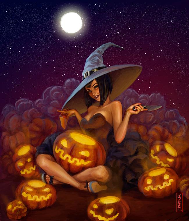 Halloween Pin-Up - Svetlana Tigai
