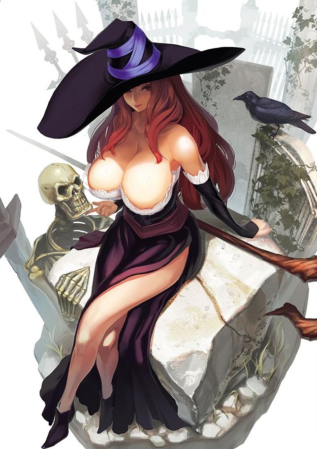 Halloween Pin-Up - Tsunekun