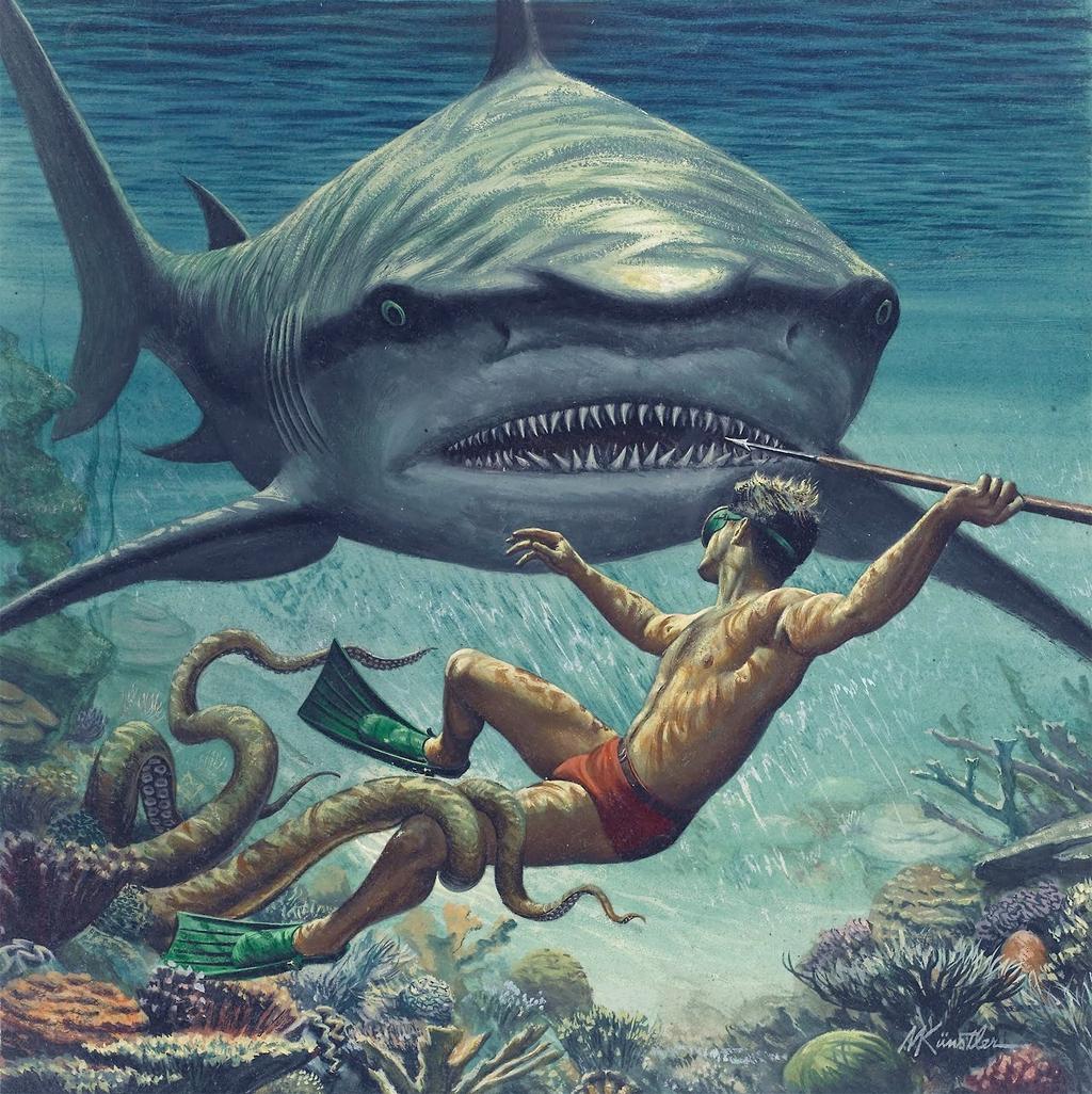 Shark - Mort Kunstler
