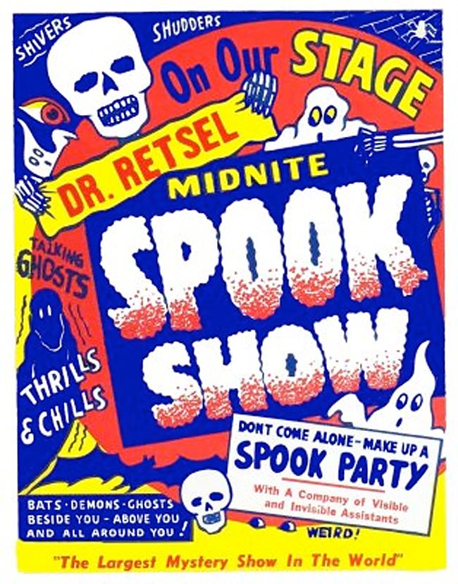 Spook Show Poster - John's Forbidden Planet