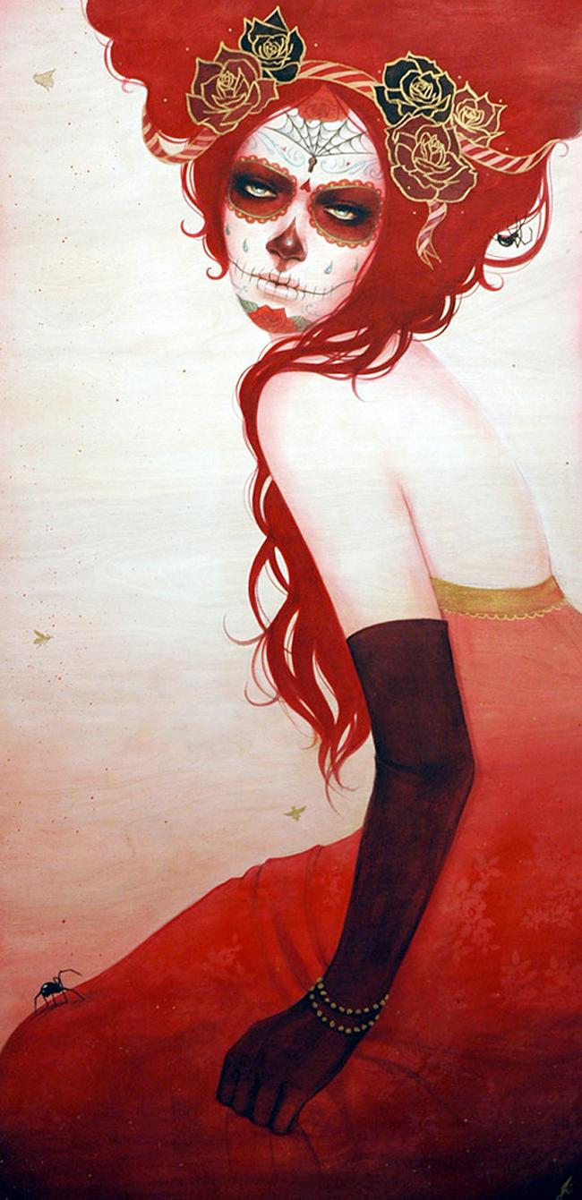 Sylvia Ji - Red Quechquemitl
