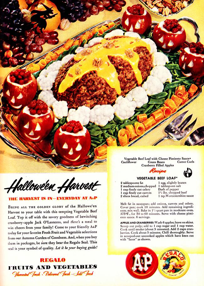 Vintage Halloween Ad - A&P