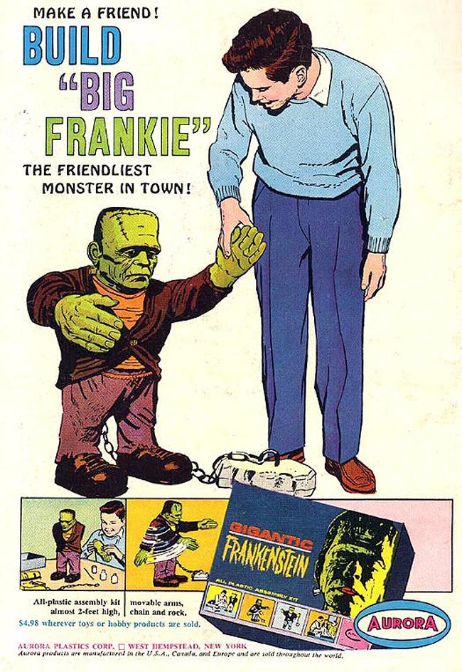 Vintage Halloween Ad - Aurora Frankenstein