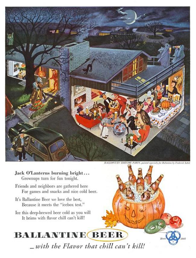 Vintage Halloween Ad - Ballantine Ale