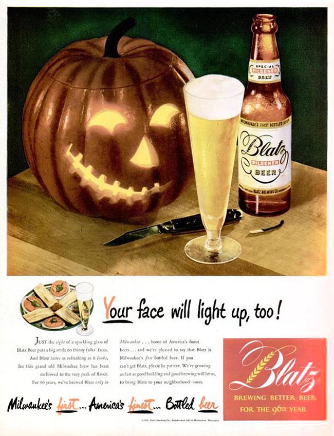 Vintage Halloween Ad - Blatz