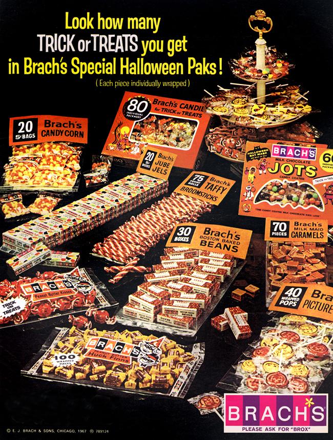 Vintage Halloween Ad - Brach's